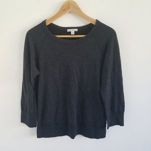 James Perse Crew-Neck Longsleeve Pullover Sweater
